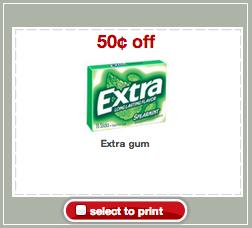 Extra Gum Target Coupon