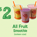 Jamba Juice Coupons: $2 Smoothie