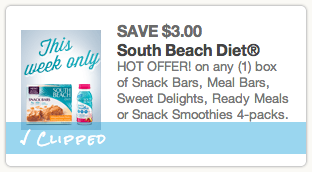 South Beach Diet Product Coupon