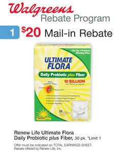 Walgreens Ultimate Flora Rebate