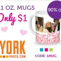 York Photo: Valentine's Mug for Just $1