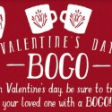 Caribou Coffee: Buy One Get One FREE on Valentine's Day