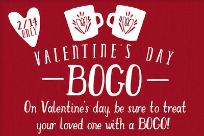 Caribou Coffee Valentines Day BOGO
