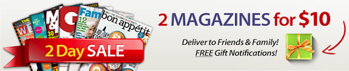 Discount Mags 2 for 10 Sale