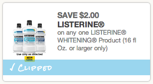 Listerine Whitening Coupon