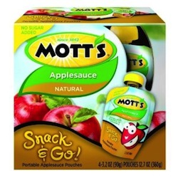 Motts Snack and Go Applesauce