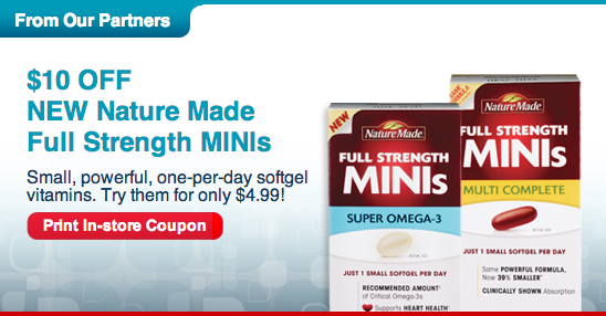 Nature Made Full Strength Minis CVS Coupon