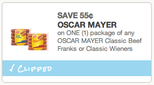 Oscar Mayer Hot Dogs Coupon