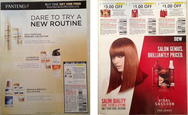 Pantene Vidal Sassoon Coupons