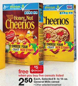 Target Cereal Gift Card Deal