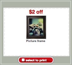 Target Picture Frame Coupon