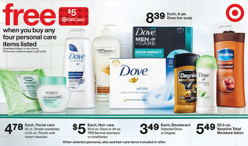 Target Unilever Gift Card Deal