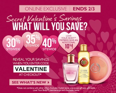 The Body Shop Valentines Day