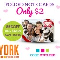 York Photo: 12 Folded Note Cards Just $2