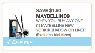 Maybelline New York Eye Shadow Coupon