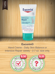 Eucerin Hand Creme Ibotta Offer