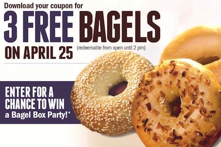FREE Brueggers Bagels