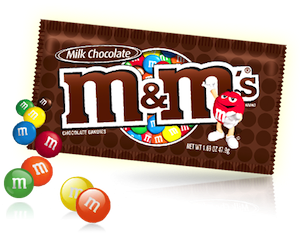 MMs Chocolate Singles