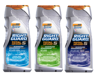 Right Guard Total Defense 5 Body Wash