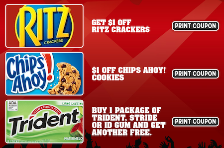 Ritz Chips Ahoy Trident Coupons