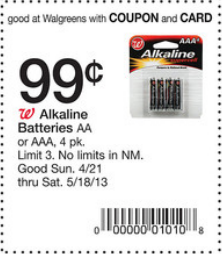 Walgreens Batteries Coupon