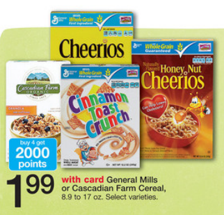 Walgreens Cascadian Farm Cereal Deal