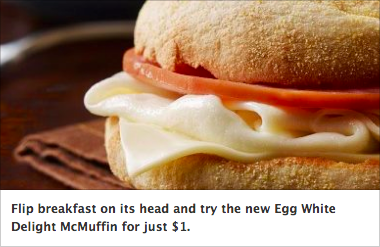 McDonalds Egg White Delight McMuffin