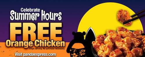 Panda Express FREE Orange Chicken