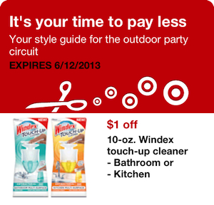 Target Windex Touch Up Coupon