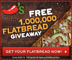 Chilis Flatbread Giveaway