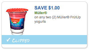 Muller FruitUp Yogurt Coupon