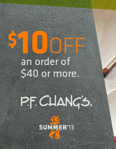 PF Changs Coupon