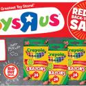 Toys R Us: Crayola Crayons $0.25