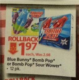 Walmart Bomb Pops