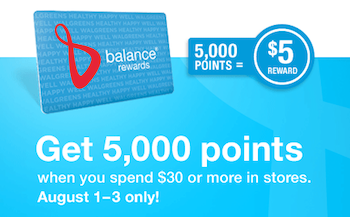 Walgreens Balance Rewards Points