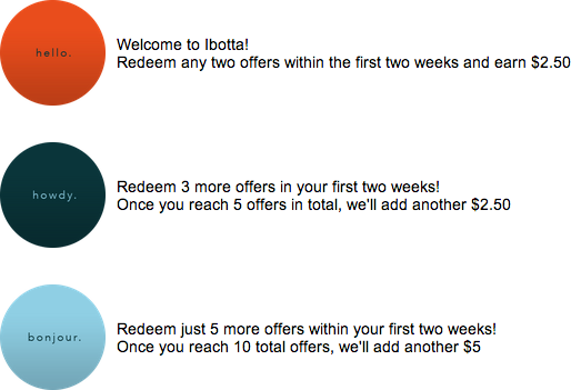 Ibotta Welcome Bonuses