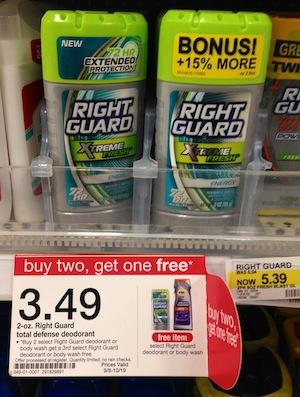 Target Right Guard Deodorant