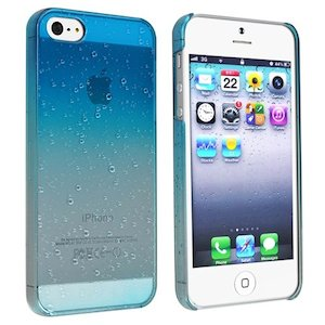 Clear Sky Blue Waterdrop Raindrop Hard Case
