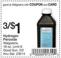 Walgreens Hydrogen Peroxide Deal