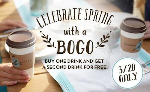 Caribou Coffee Spring BOGO