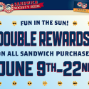 Erbert & Gerbert's: Double Rewards on Sandwich Purchases 6/9 – 6/22