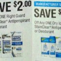 Right Guard and Dry Idea Insert Coupon Issues