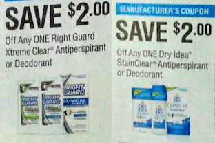 Right Guard Dry Idea Coupons