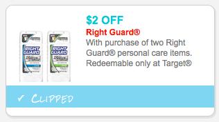 Right Guard Target Coupon