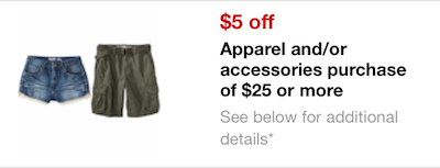 Target Apparel Mobile Coupon