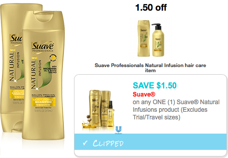 Target FREE Suave Natural Infusions