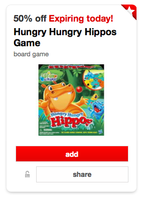 Target Hungry Hungry Hippos Cartwheel