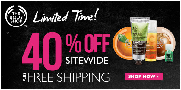 The Body Shop 40 Sitewide