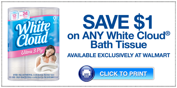 White Cloud Bath Tissue Printable Coupon