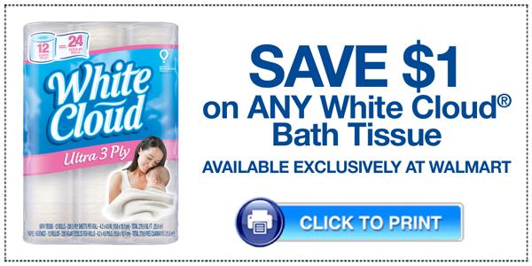 White Cloud Bath Tissue Printable Coupon